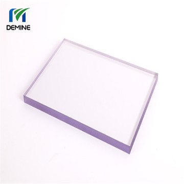 Hard plastic abrasion resistant sheet polycarbonate panel